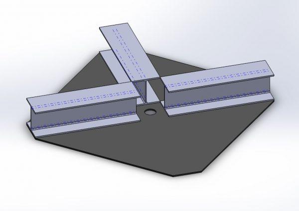 試験用 鋼製受圧板