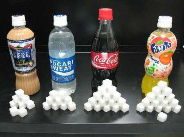 ジュースの糖分量