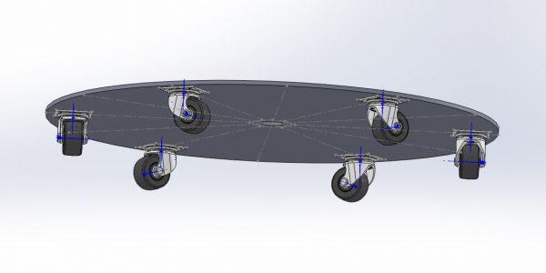 3DCADで作成した車輪