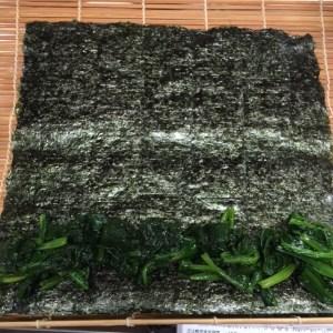 ほうれん草海苔巻2