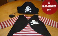 ハロウィン 子供 大人 仮装 簡単 安い 100均 海賊 ボーダー 手作り 女の子 男の子