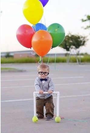ハロウィン 子供 大人 仮装 簡単 安い 100均 ディズニー カールじいさんの空飛ぶ家 風船 手作り 女の子 男の子