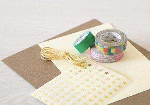 クリスマスカード簡単手作り彼氏におしゃれカードや飛び出す可愛いカードマスキングテープガーランド