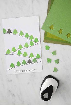 クリスマスカード簡単手作り彼氏におしゃれカードや飛び出す可愛いカードクラフトパンチ