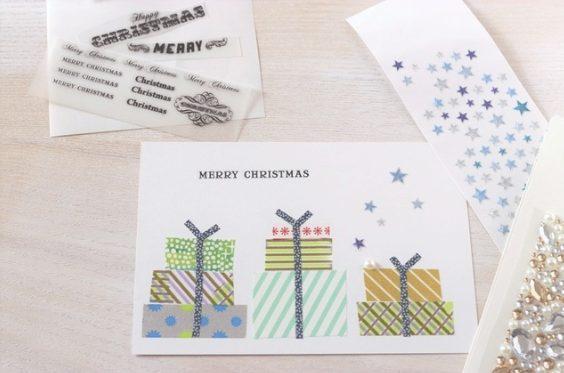 クリスマスカード簡単手作り彼氏におしゃれカードや飛び出す可愛いカードプレゼント