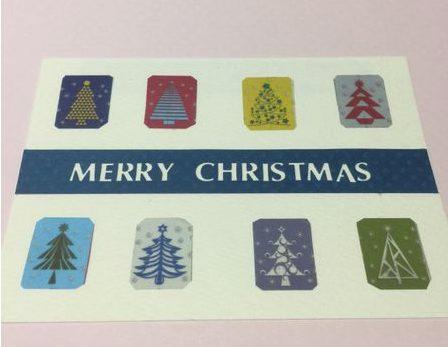 クリスマスカード簡単手作り彼氏におしゃれカードや飛び出す可愛いカードマステクラフトパンチ