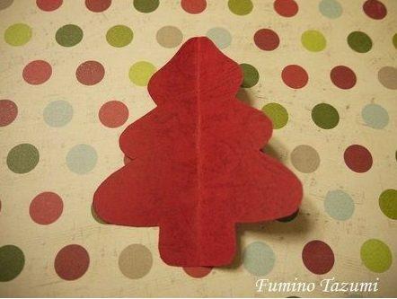 クリスマスカード簡単手作り彼氏におしゃれカードや飛び出す可愛いカード立体ツリー