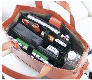 バッグ 中身 整理 トートバッグ 100均 ポーチ 収納 ビジネスバッグ 文房具 旅行 百均 100円 ヒャッキン