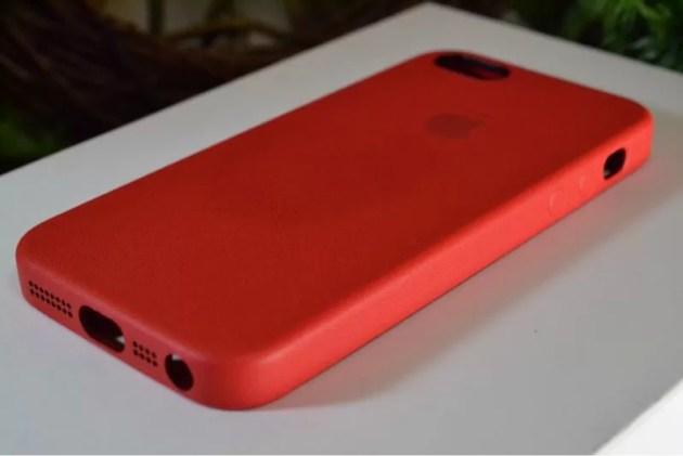 Apple純正iPhone5sケースレッド2