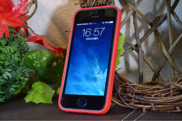 Apple純正iPhone5sケース装着6
