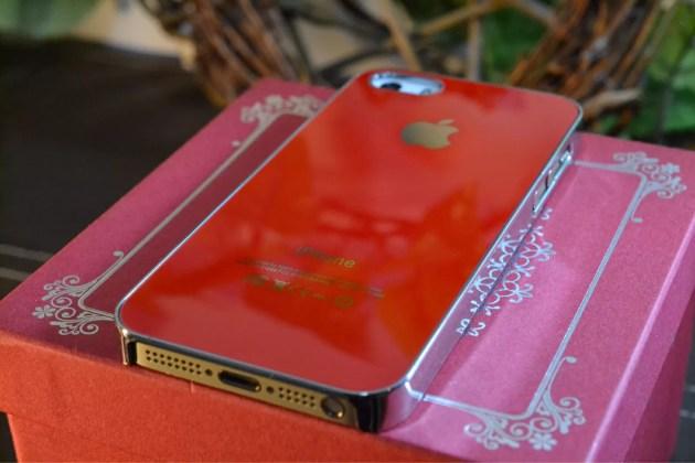 Appleマーク入りのiPhone5sケース装着8