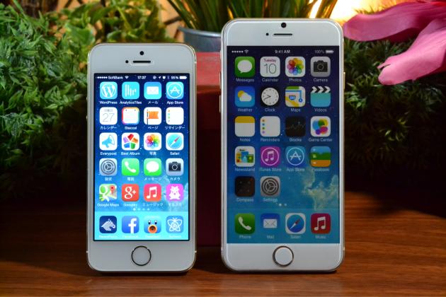 iPhone5sとiPhone6の大きさ比較1