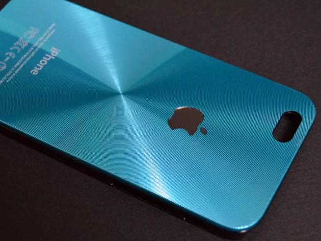 Appleマークの見えるアルミ波紋ケース2