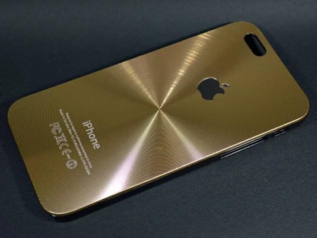 Appleマークの見えるアルミ波紋ケース1