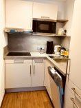 Bild der Küchennische in der Siebenschläfer Ferienwohnung