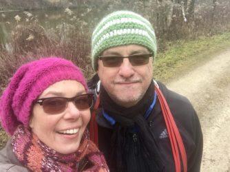 Tanja und Andreas an der Isar