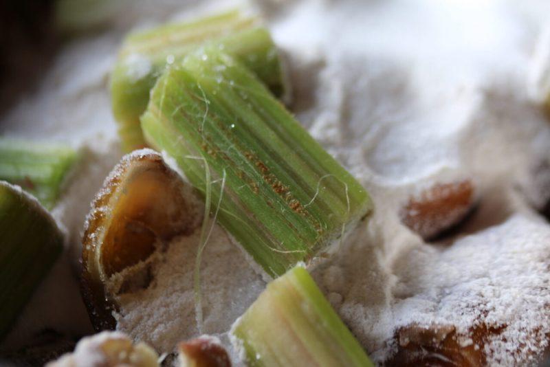Aus Rhabarber, Datteln, Zucker und Agar Agar entsteht köstliche Rhabarbermarmelade