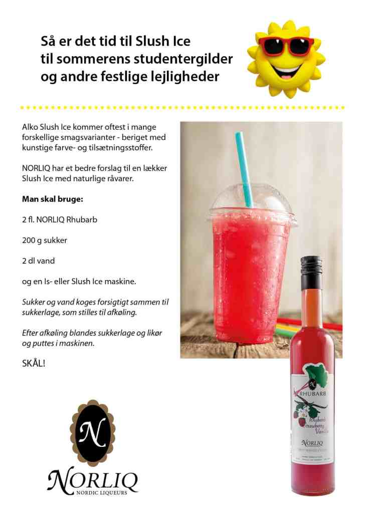 Slush Ice med Rhubarb