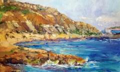 Painting at Xatt l-Ahmar on Gozo, Malta