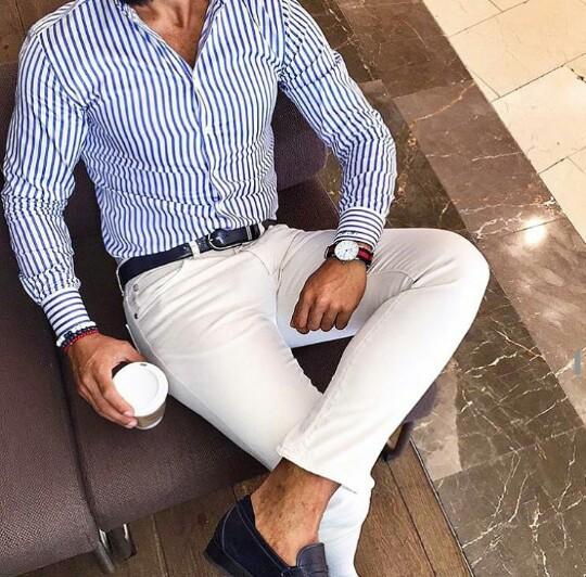 gestreept zomer overhemd