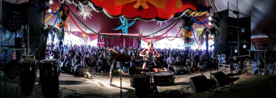 Glastonbury Festival Glasto Latino Stage 2016 by Vicki Steward
