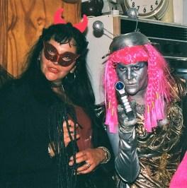 Glastonbury GIGL Alien Party Sylvie and Inga