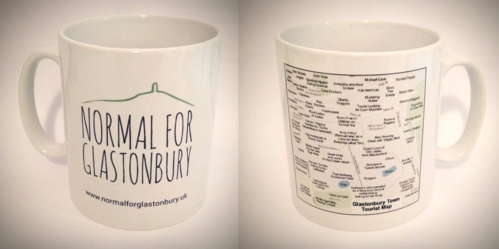 Normal for Glastonbury? Get the Mug!