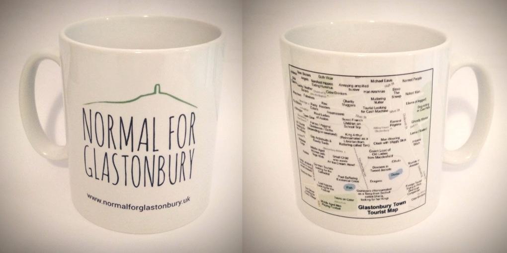 Normal for Glastonbury Mug with Funny Tourist Map