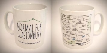 Normal for Glastonbury Mug with Funny Tourist Map