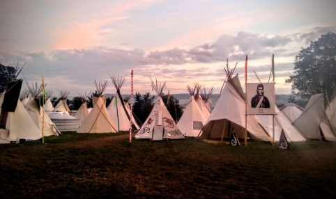 Glastonbury Festival Tipi Field 2016 by Vicki Steward
