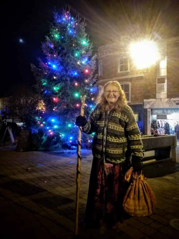 Lyn and Glastonbury's Christmas Tree