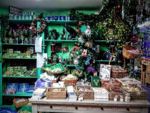Goddess and Green Man's interior is full of Yuletide cheer