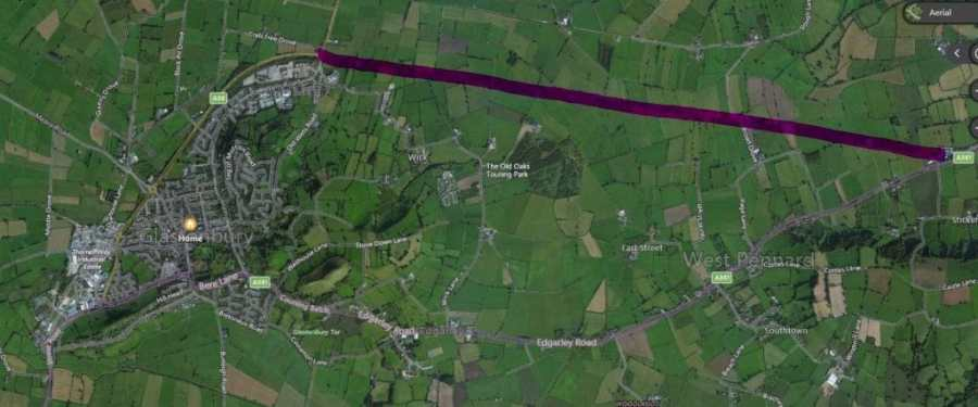 Mendip Expressway Glastonbury Bypass Possible Route