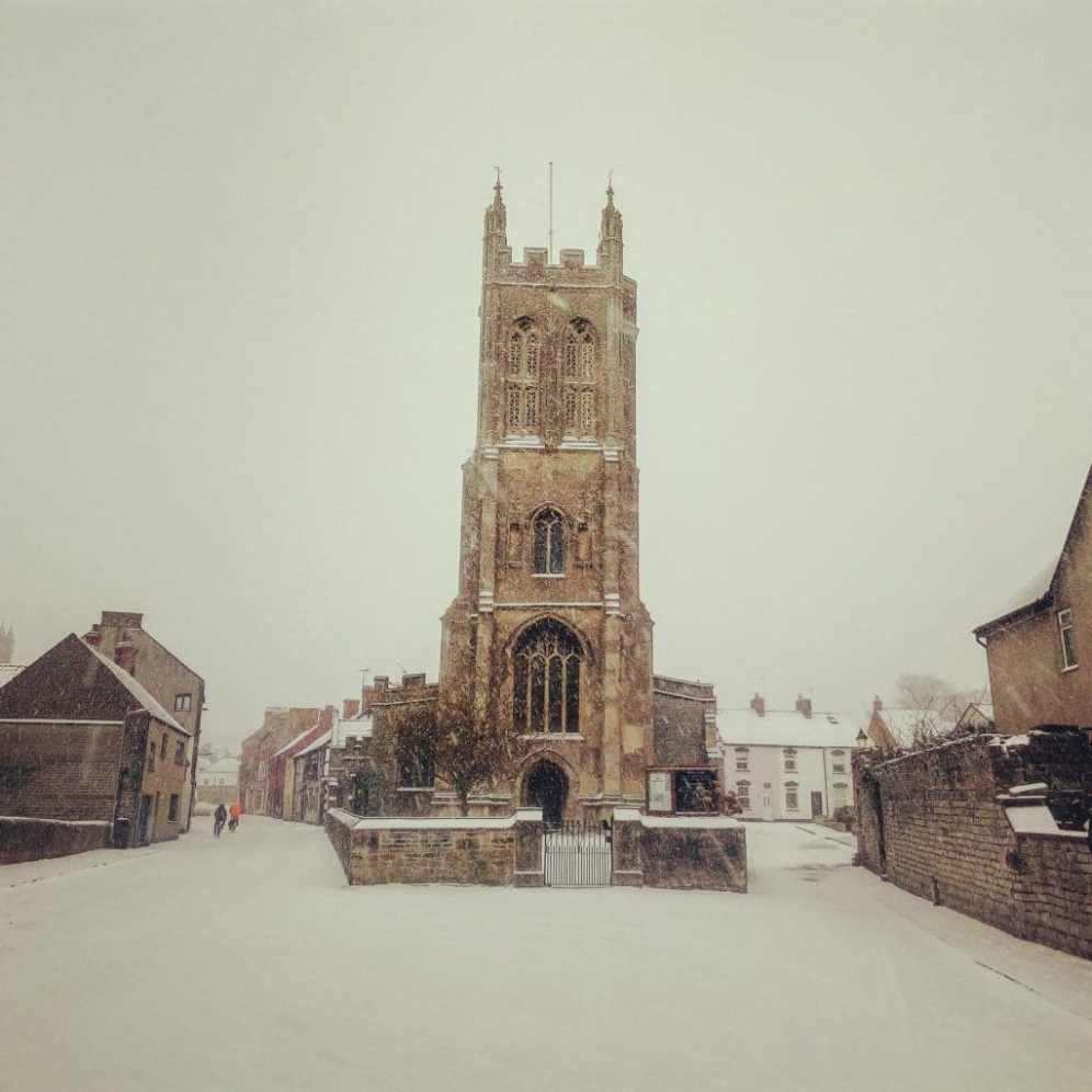 Snow in Glastonbury 2018