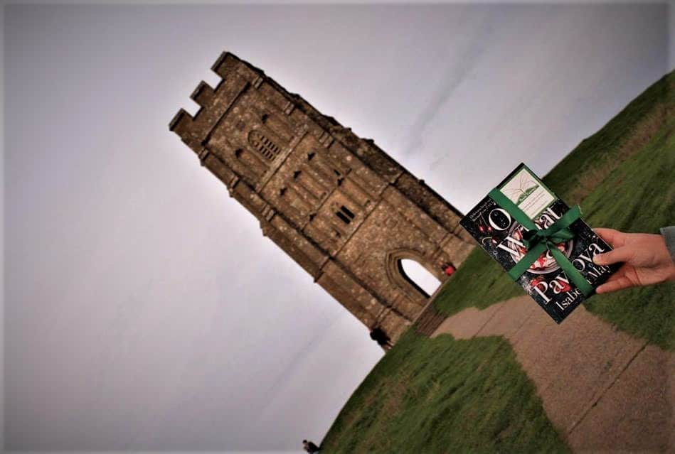 Book Fairy with Isabella May's book on Glastonbury Tor. Photo by Paige Davis