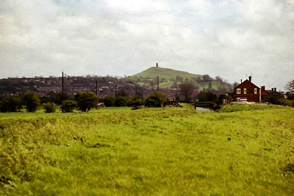 Glastonbury in the 1970's. Photograph by  Michael Lidgley.