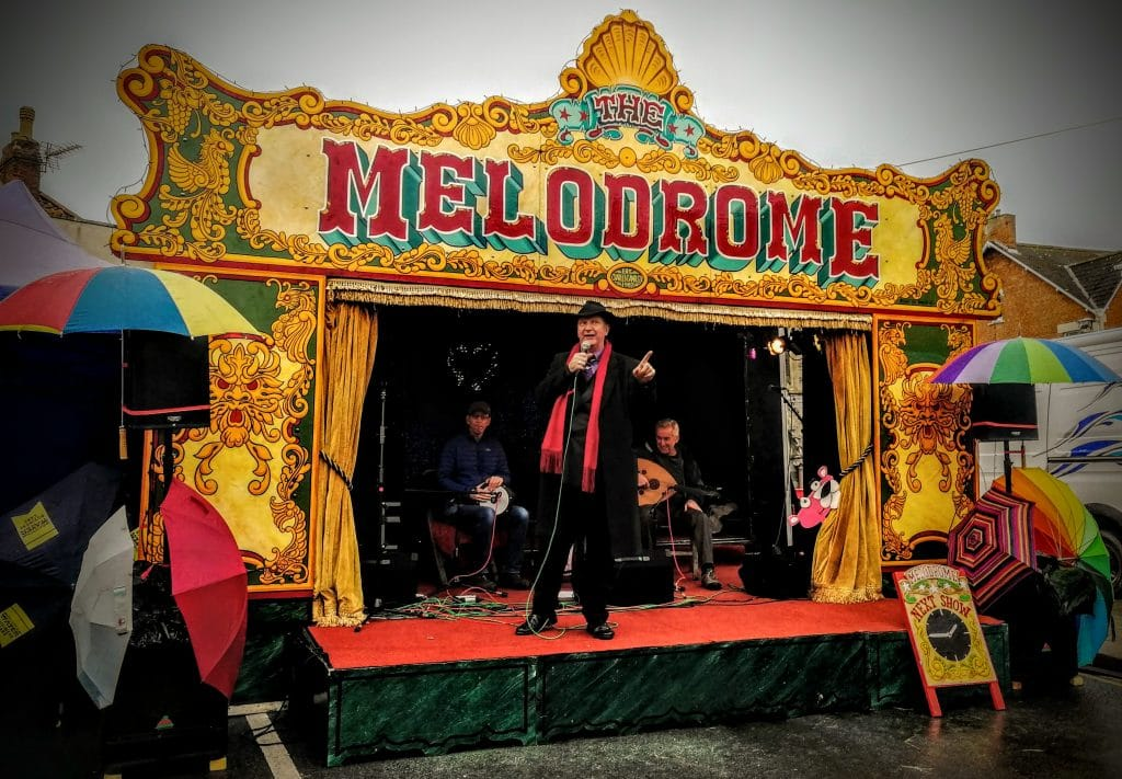 The Melodrome Stage at Glastonbury Frost Fayre 2018