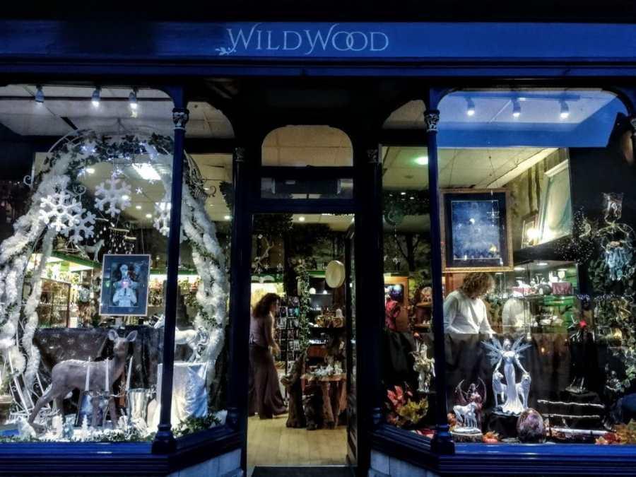 Wildwood Glastonbury Christmas Window 2018