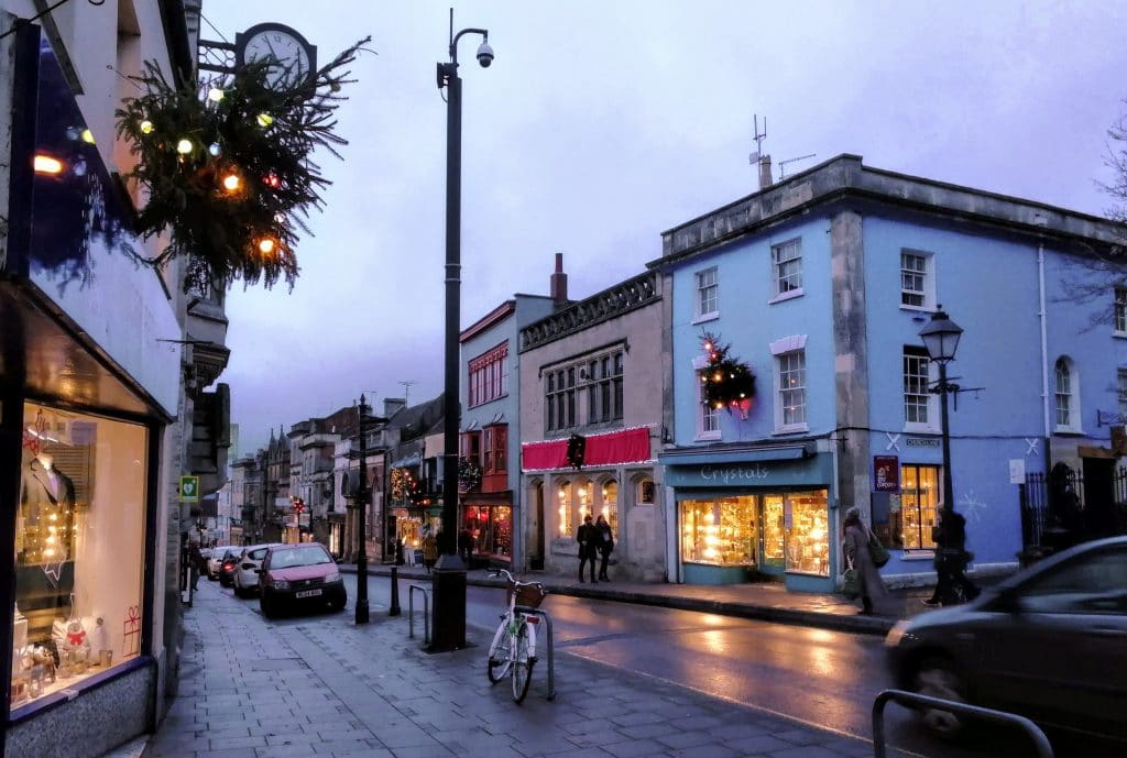 Glastonbury High St Christmas 2018