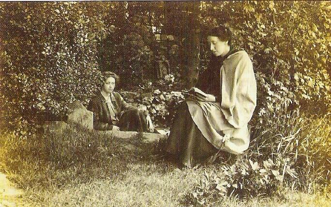 Alice Buckton at Chalice Well Glastonbury by Wellesley Tudor Pole