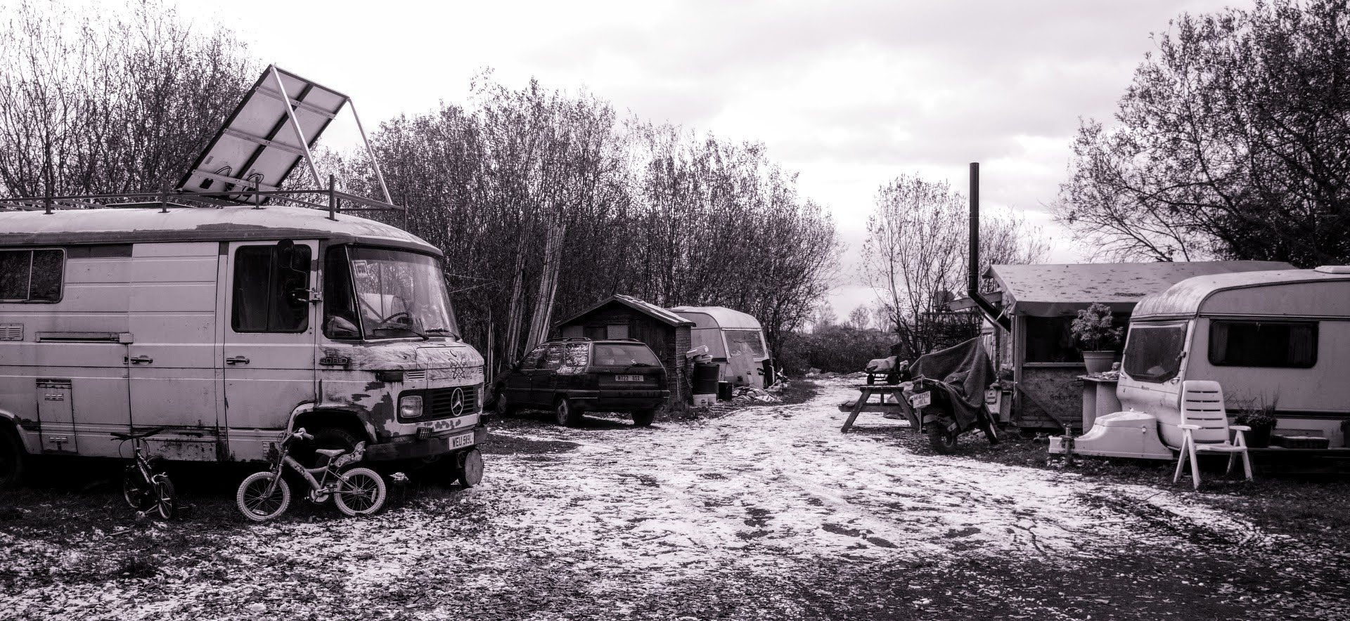 Traveller Site in the Snow