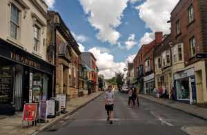 Social Distancing Glastonbury High Street