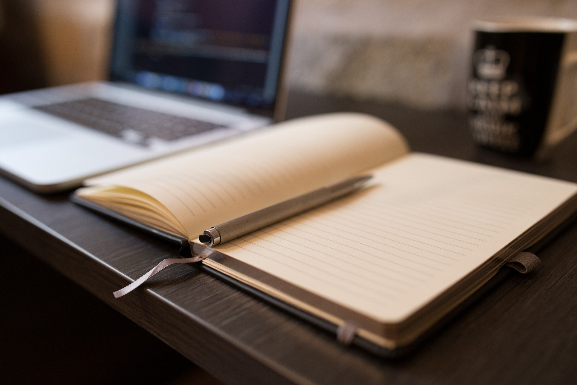 Notepad and book