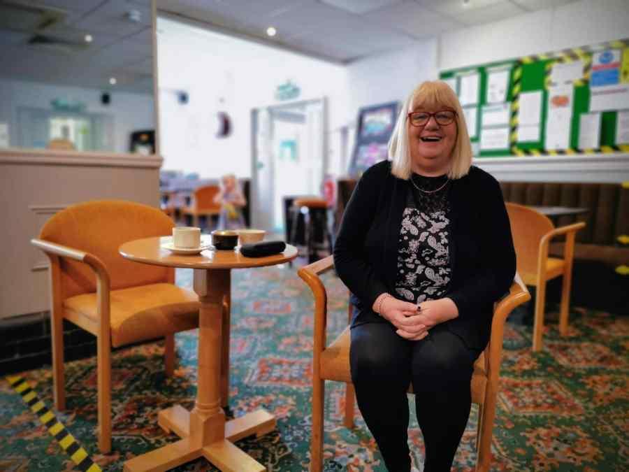 Sandie Nicholson in the Avalon Club Bar