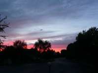 Sunset from my front porch.