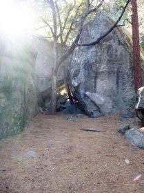 A secret tunnel in the talus.