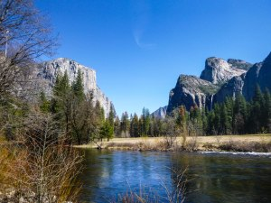 El Cap, Three Brothers and the Merced River