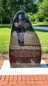 Camp River Dubois memorial stone