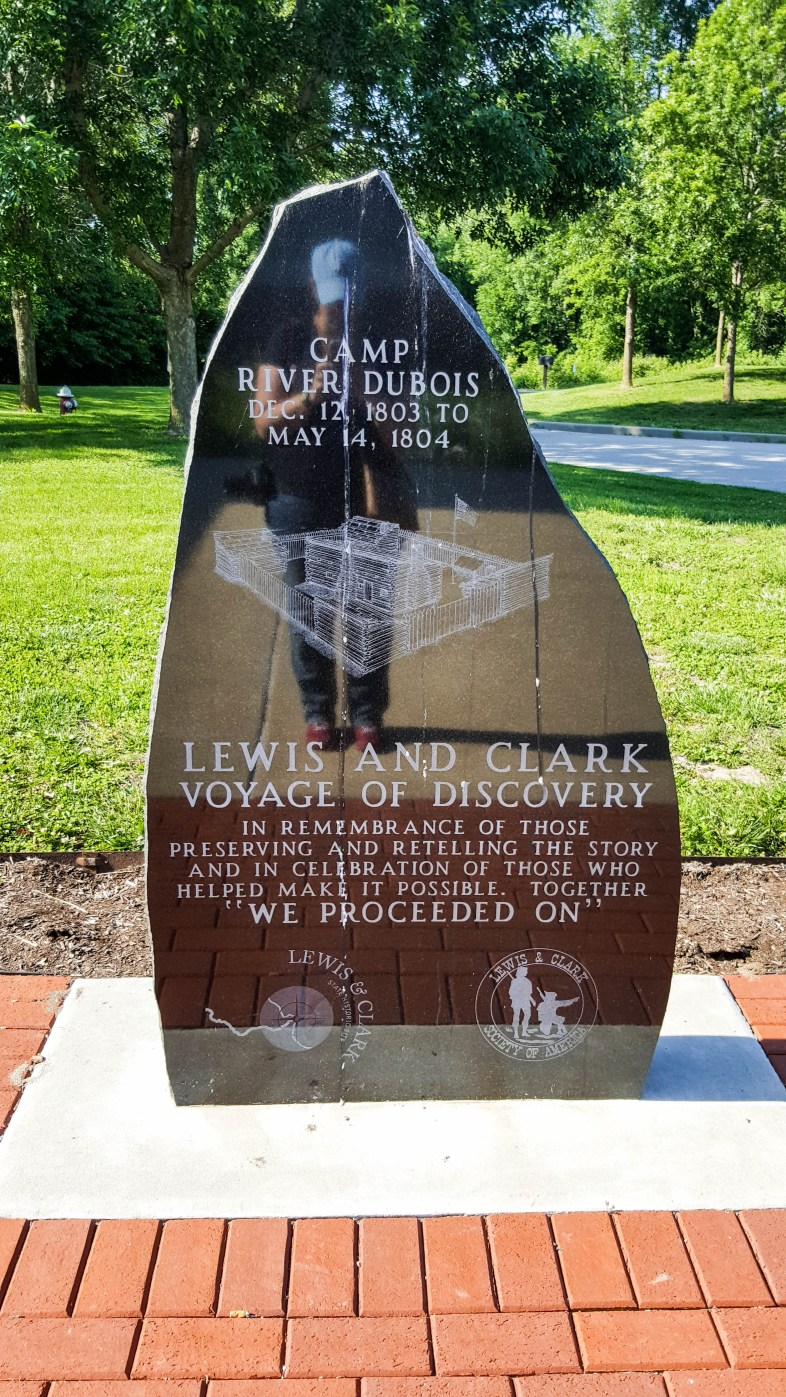 Camp River Dubois memorial stone