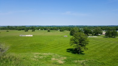 View of existing palisade wall and southern Illinois from top of Monk's Mound